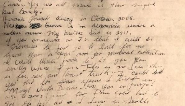Letter claims Alcatraz fugitive hid for several years in Fargo
