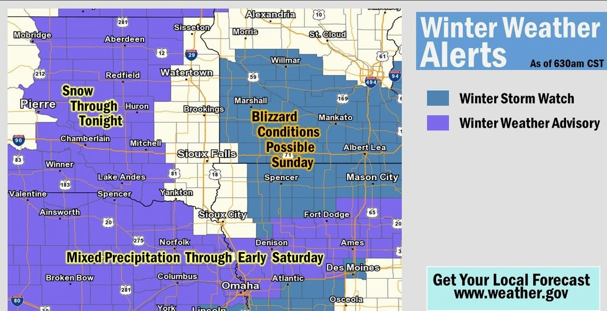 More winter weather headed for the area | News | KELO Newstalk 1320