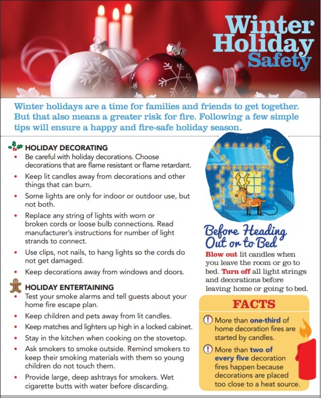 Nfpa Warning Of Christmas Fire Hazards