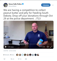 From throwing a PB&J sandwich at the cops to helping the hungry | KELO