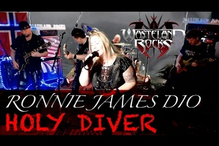 HOLY DIVER - RONNIE JAMES DIO - Cover with Lyrics - Streamed LIVE in HD  with VFX and HQ Audio