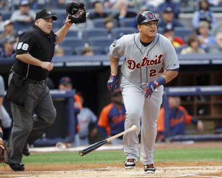 Miguel Cabrera (hamstring) placed on the Tigers' DL on Friday