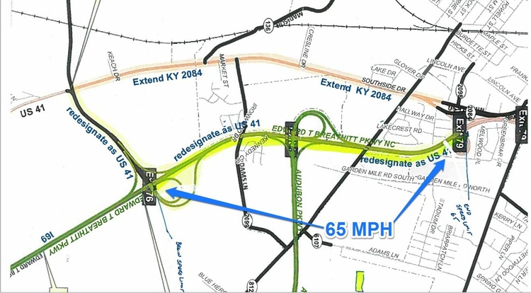Portion Of Pennyrile Parkway In Henderson To Become US News - Us 41 map