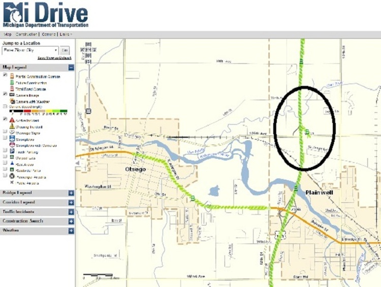 US Roadwork Near Plainwell News WHTC - Us 131 map