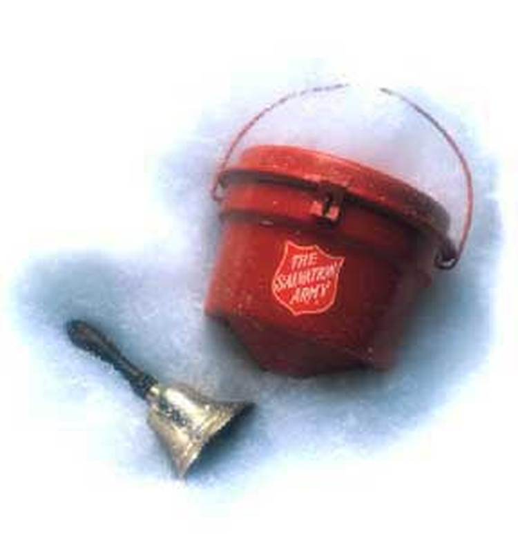 Salvation Army Kettle ~ Sheboygan salvation army red kettle campaign in state of