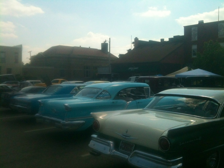 Some Of The Cars On Display At Coldwater Mi Stop Back To