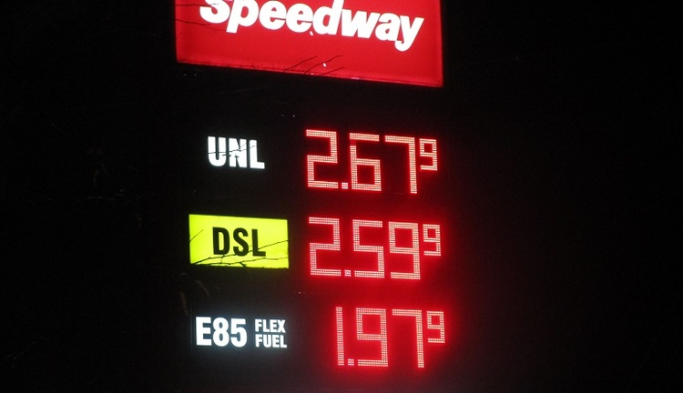 Gas prices declined since September