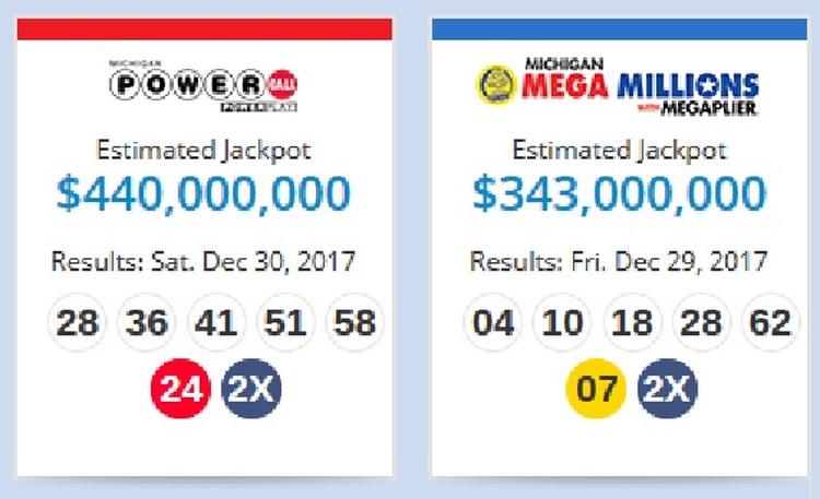 Mega Millions, Powerball both top $300M as 2017 nears end