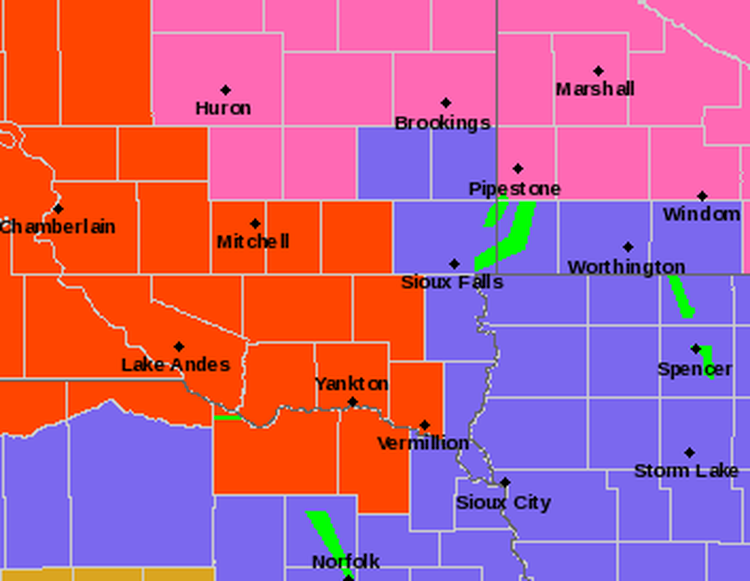 UPDATE 6 I90 I29 closures from winter storm News KELO