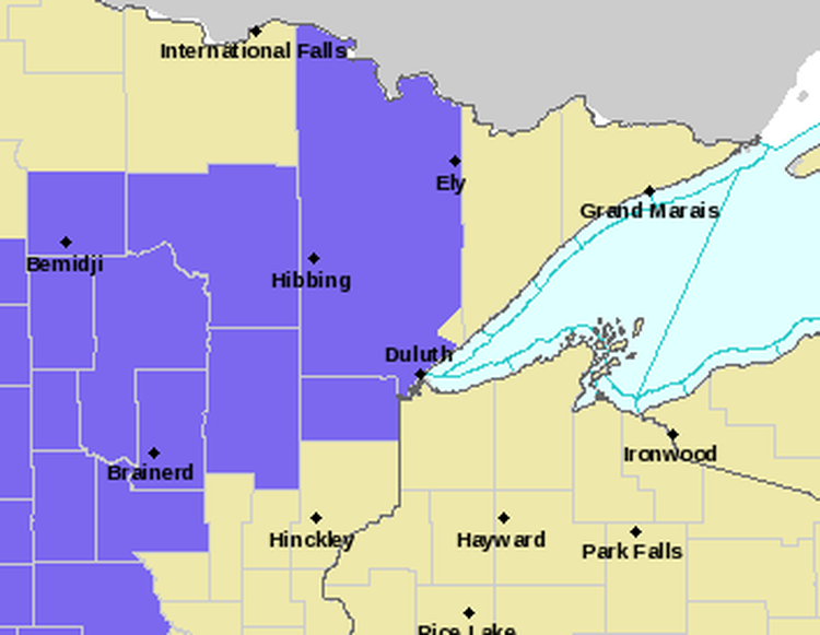 Winter Weather Advisory For Central Minnesota
