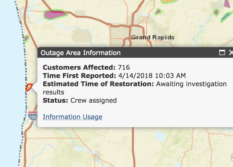 UPDATE: Power Outages on Saay | News | 92.7 The Van on appalachian power outage map, grand rapids mi power outage map, michigan consumers energy service area map, clinton co michigan power outages map, dte power outage map, lansing power outages map, consumers energy detroit map, consumers power michigan, consumers power rebates,