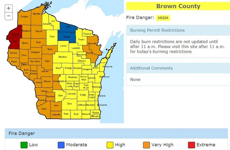 Fire danger extreme in La Crosse County, high throughout Wisconsin