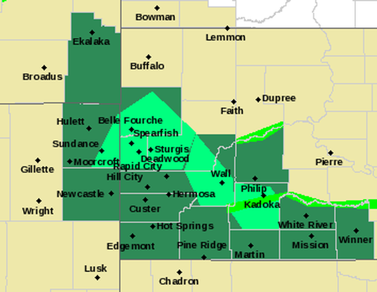 Kelo Weather Map.Flooding Occuring West River News Kelo Newstalk 1320 107 9