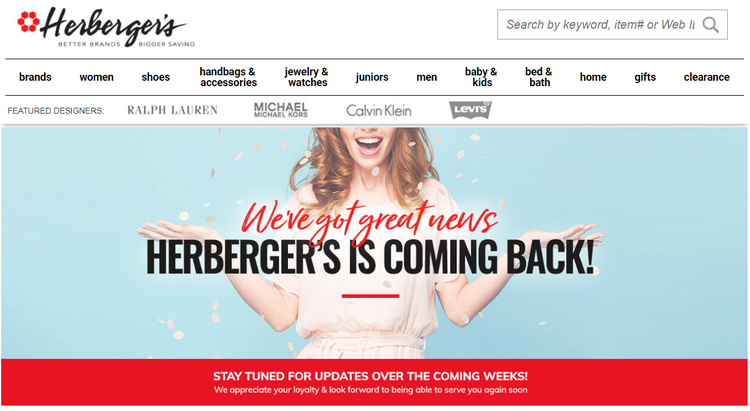 Herberger's and other Bon-Ton chains may return, their websites say