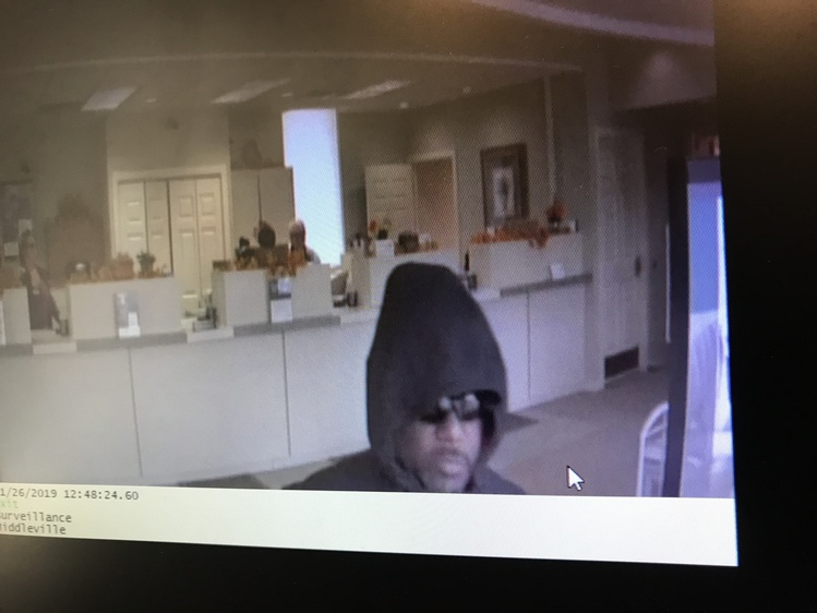 Security camera footage of the bank robber in Middleville. (Photo courtesy of Barry County Sheriff's Office).