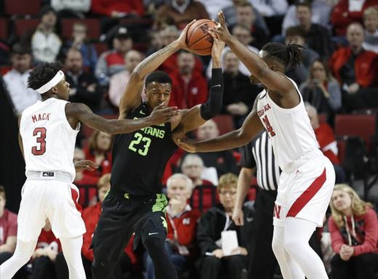 FINAL: Michigan State men's basketball pulls away from Nebraska, 86-65