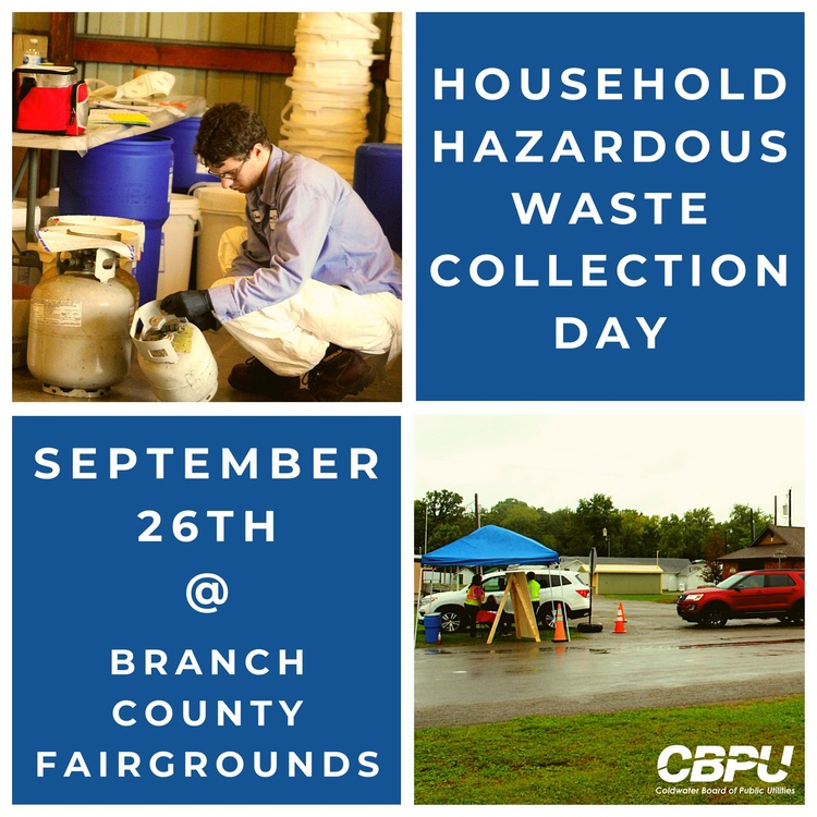 Coldwater's Household Hazardous Waste Collection Day will be held on September 26. (Courtesy of the City of Coldwater)