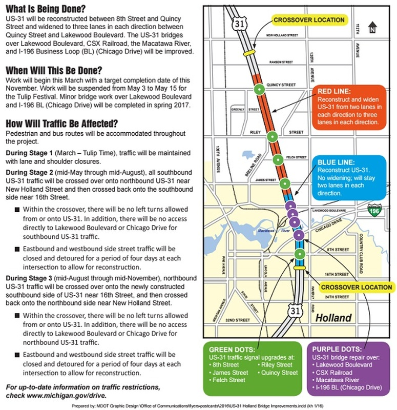 Update On US Road Construction News WHTC - I drive us closure map