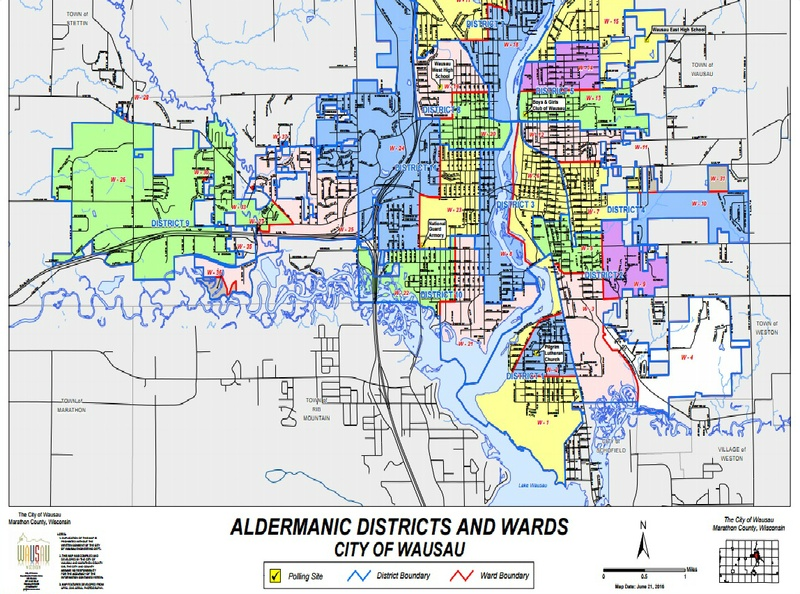 Wausau Districts Wards Polling Places 2016 Image City Of Wausau