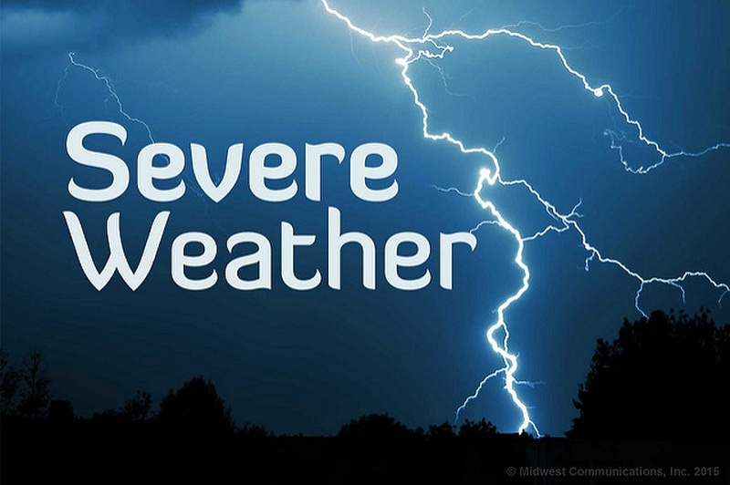 Severe thunderstorm risk into Tuesday evening